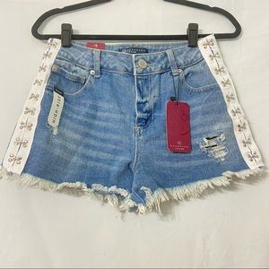 NWT BoomBoomJeans Eyelet High Waist Jeans Shorts 9